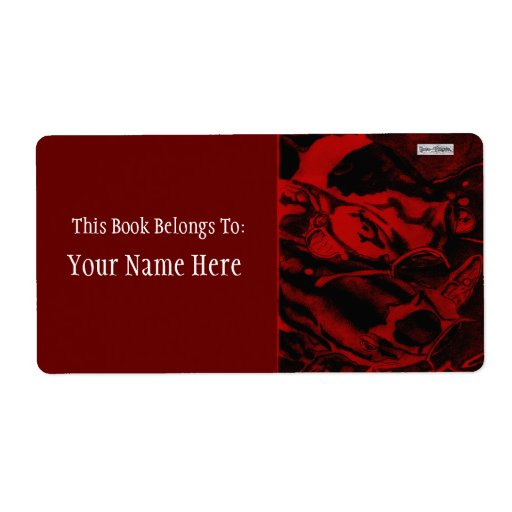 Koi (Red) Shipping Label