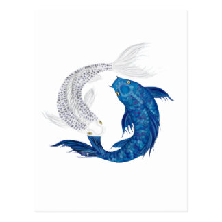 Koi Regal Blue Ghost silver Postcards