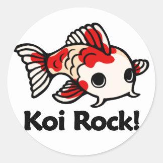 Koi Rock! Classic Round Sticker