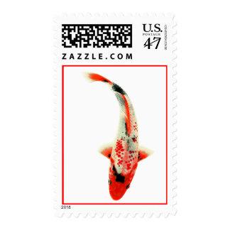 Koi rojo sellos postales