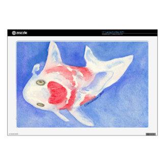 Koi rojo y blanco 43,2cm portátil calcomanía
