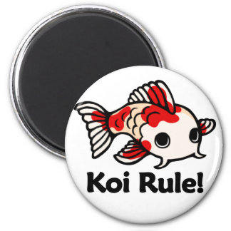 Koi Rule! 2 Inch Round Magnet