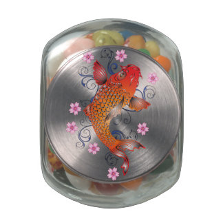 Koi Style Glass Candy Jars