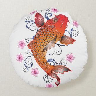 Koi Style Round Pillow
