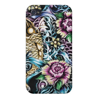 Koi surf Art I Phone cover Case For iPhone 4
