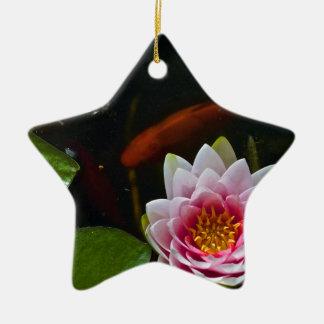 koi  swimming around lotus ceramic ornament
