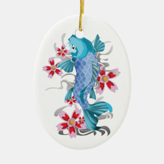 Koi Tattoo Ceramic Ornament