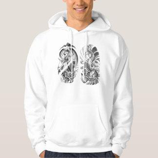 Koi tattoo hoodie