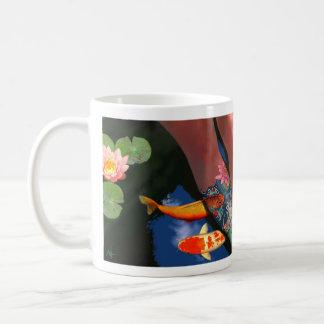 Koi Tattoo Lily Pond Mug Lefthand