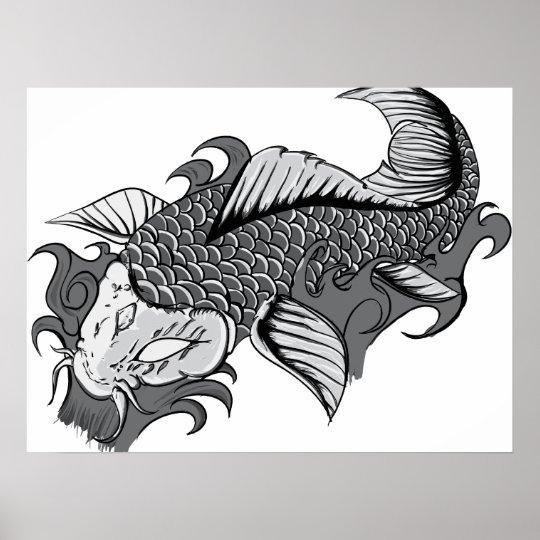 Koi Tattoo - Poster