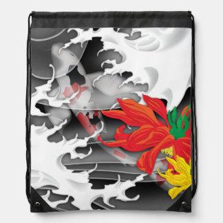 Koi Tattoo: Traditional Japanese Design Drawstring Bag