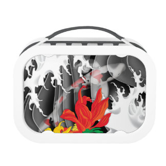 Koi Tattoo: Traditional Japanese Design Lunch Box