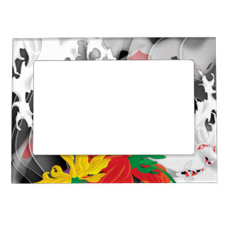 Koi Tattoo: Traditional Japanese Design Magnetic Picture Frame