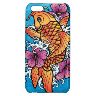 Koi tattoo with purple hibiscus iPhone 5C cover