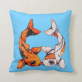Koi Throw Pillow or Accent Cushion