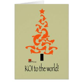 KOI to the world Christmas graphic Card 2