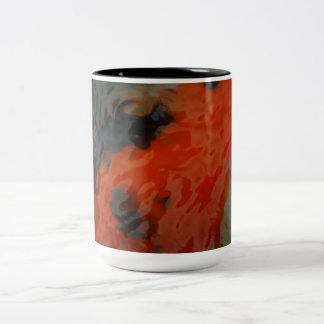 Koi Water Two-Tone Coffee Mug