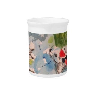 Koi Watercolor Design Beverage Pitcher