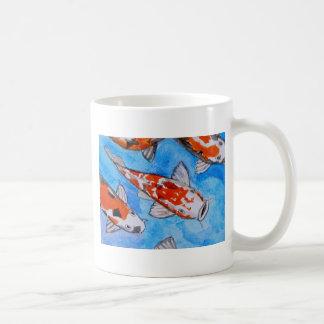 Koi watercolor nature painting art printed on coffee mug