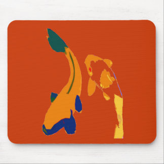 KOI WEALTH FISH MOUSE PAD