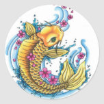 Koi with Cherry Blossoms Stickers