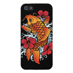 Koi With Hibiscus Iphone Se/5/5s Case at Zazzle