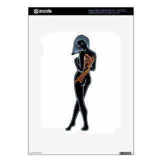 Koi Woman Pin-Up iPad 3 Skins