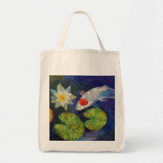 Koi y bolso del lirio de agua bolsas