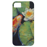 Koi y lirio blanco iPhone 5 Case-Mate protectores