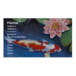 Koi y lirio de agua tarjetas de visita