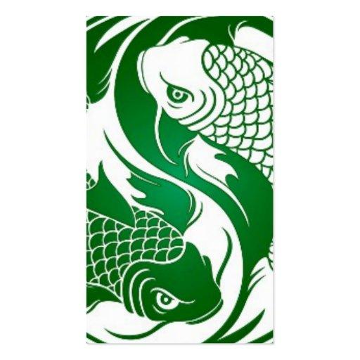 koi yin yang white green.jpg business card templates