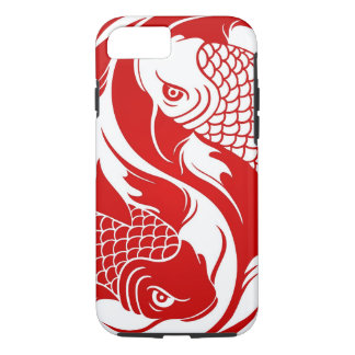 koi yin yaRed and White Yin Yang Koi Fish iPhone 8/7 Case