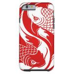 koi yin yaRed and White Yin Yang Koi Fish Tough iPhone 6 Case