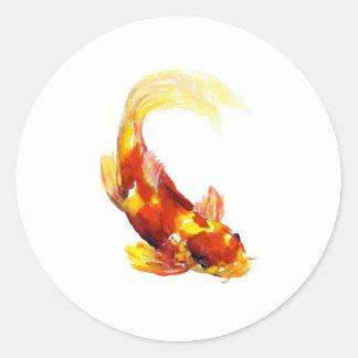 koifish2.jpg classic round sticker