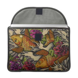 kois and chrysanthemums MacBook pro sleeve