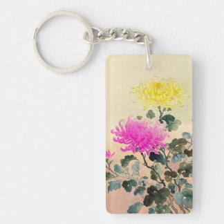 Koitsu Tsuchiya Chrysanthemum japanese flowers art Double-Sided Rectangular Acrylic Keychain
