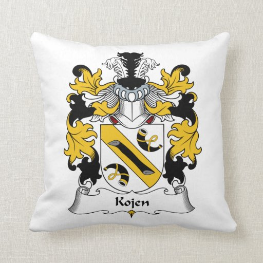 Kojen Family Crest Throw Pillows