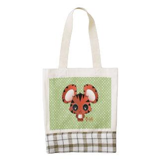 Koji the tiger zazzle HEART tote bag