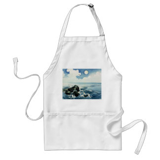 Kojima Island, Big Wave. Japanese Woodblock Print Adult Apron