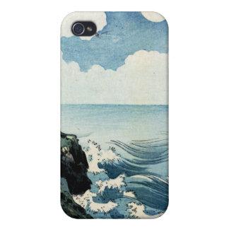 Kojima Island, Big Wave. Japanese Woodblock Print iPhone 4/4S Cover