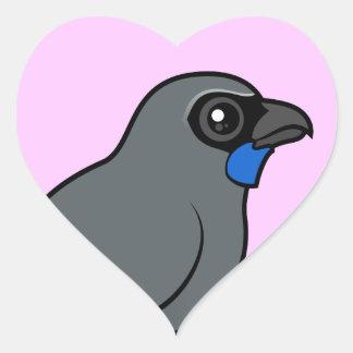 Kokako Heart Sticker
