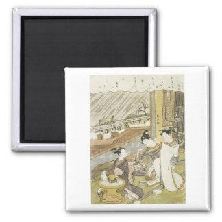 Kokan Komachi Praying For Rain 1771 Art Prints 2 Inch Square Magnet