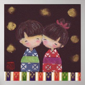 Kokeshi 夫婦 Poster
