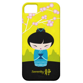 Kokeshi azul - serenidad iPhone 5 fundas