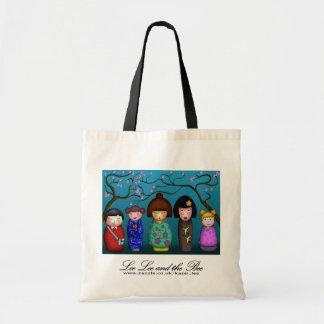 Kokeshi Blossoms, shopping bag