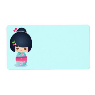 Kokeshi Cherry Address Label