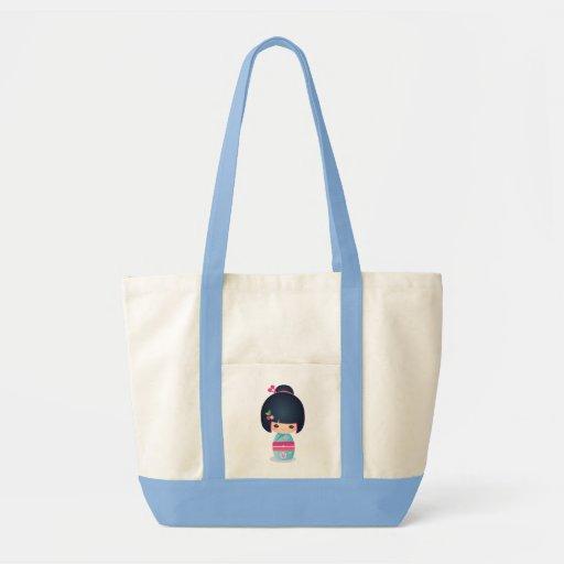 Kokeshi Cherry Tote Tote Bag