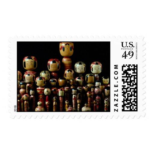 Kokeshi Choir Stamps