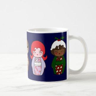 Kokeshi Christmas Mug