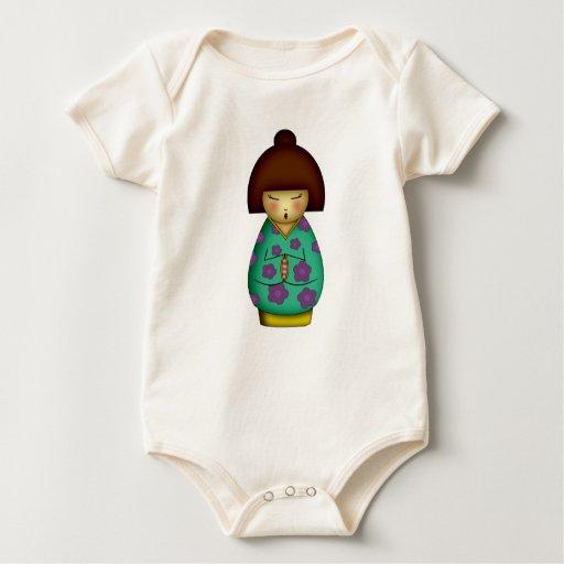 Kokeshi de rogación, bebés traje de bebé